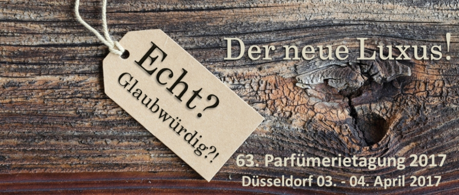 63. Parfümerietagung 2017 – 03.-04. April 2017 in Düsseldorf